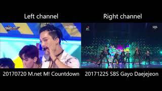 EXO - Ko Ko Bop [LIVE MR comparison]