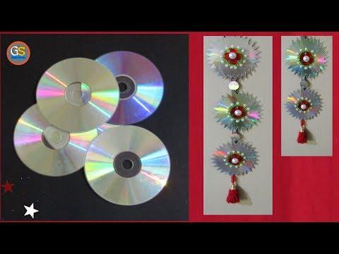 easy-cd-craft-ideas-||-home-decoration-ideas-||-beautiful-wall-hanging-||-girish-shanku