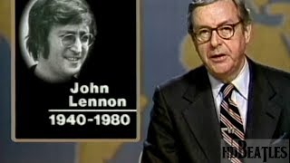 First report of the news on the killing of John Lennon [NBC, United States ]