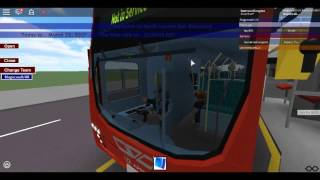 Roblox North London bus Simulator Wright Pulsar Gemini DAF DB300 Using Route 184