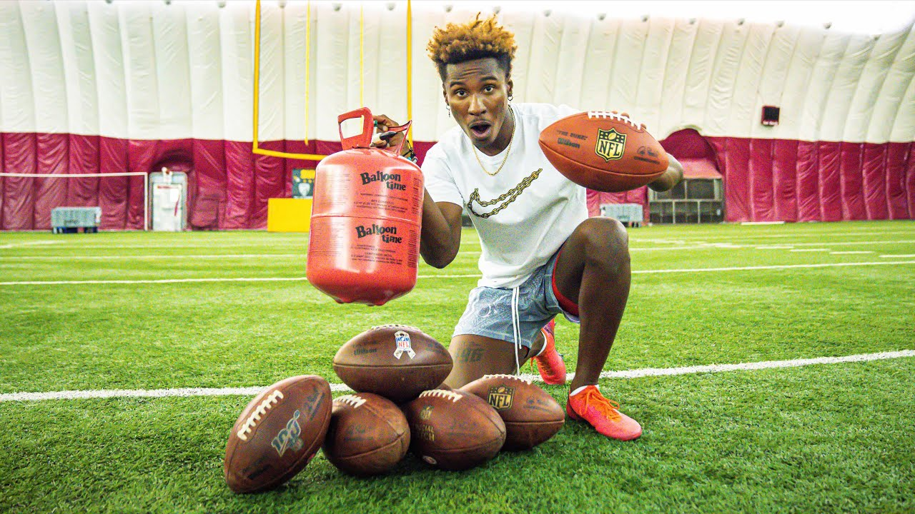 Download KICKING FOOTBALLS WITH HELIUM IN THEM! (INSANE TEST & RESULTS!)