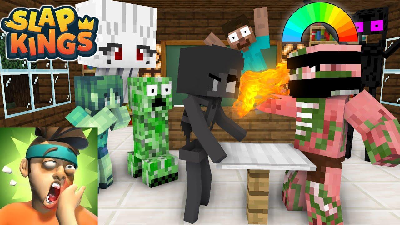 Monster School : EPIC SLAP KINGS - Minecraft Animation