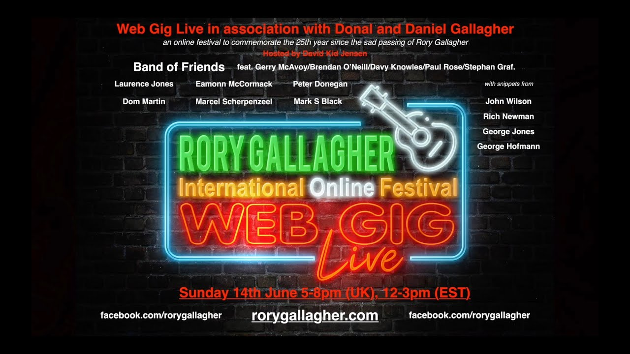 Rory Gallagher Online Festival! 14th June 2020