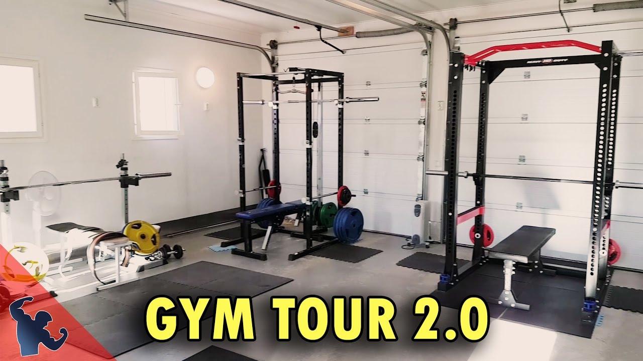 Gammelboda gains gym tour home in a garage youtube