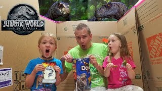 Dinosaurs in Our House! Jurassic World Blind Bag Toys Scavenger Hunt! Velociraptors!