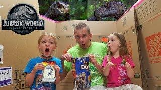 Dinosaurs in Our House! Jurassic World Blind Bag Toys Scavenger Hun...