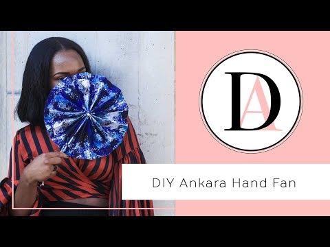 How to make an Ankara Hand Fan in 5minutes! ||  Circle Hand Fan