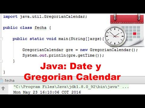 La clase Date y Gregorian Calendar Java, ejemplos