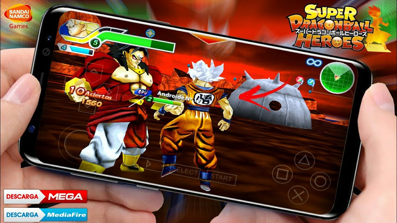 NOVO! SUPER DRAGON BALL HEROES TENKAICHI TAG TEAM PARA ANDROID - COM MENU MODIFICADO [MOD/PPSSPP] #1
