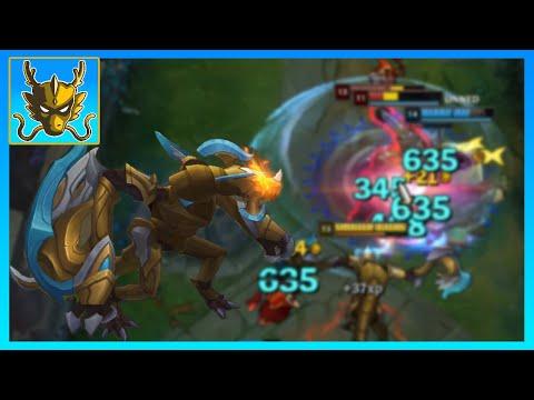 AP Championship Golden Chroma Shyvana Jungle, 50 Minute Match!!! [League of Legends]