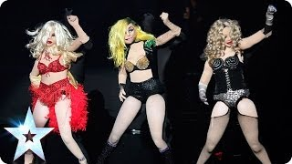 Madonna, Britney and Lady Gaga strike a pose with Kony Puppets | Britain