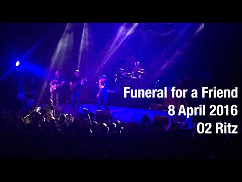 FUNERAL FOR A FRIEND, Zoax, Shai Hulud @ O2 Ritz Manchester. 8/4/2016.