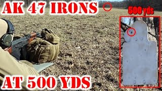 500 Yds With AK 47 (AKM) With Iron Sights!