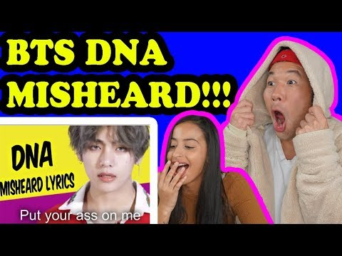 BTS TRY NOT TO LAUGH DNA Misheard Lyrics REACTI!!!