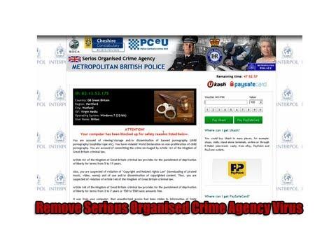 Remove Serious Organised Crime Agency Virus