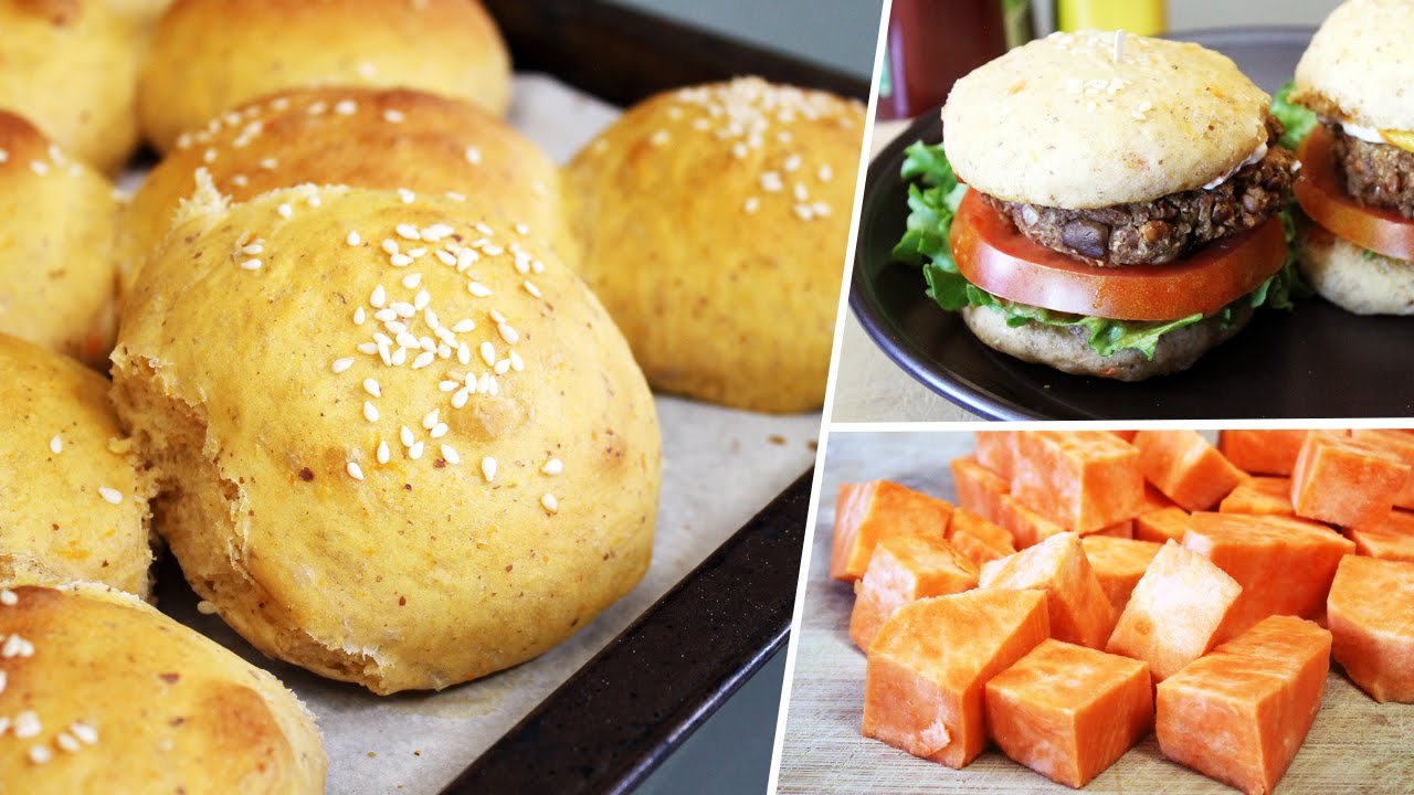 Vegan Sweet Potato Hamburger Bun Recipe   Mary's Test Kitchen