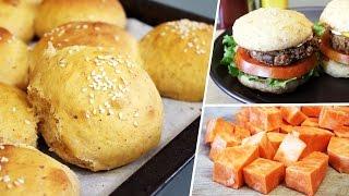 Vegan Sweet Potato Hamburger Bun Recipe