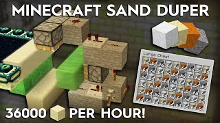 Minecraft Sand Duper - 36,000 Items/Hour - Duplİcate any Gravity Block - 1.16/1.15