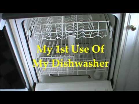 Using My Dishwasher For The First Time Youtube