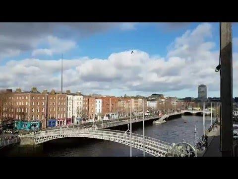 Jetpack under the river in Dublin