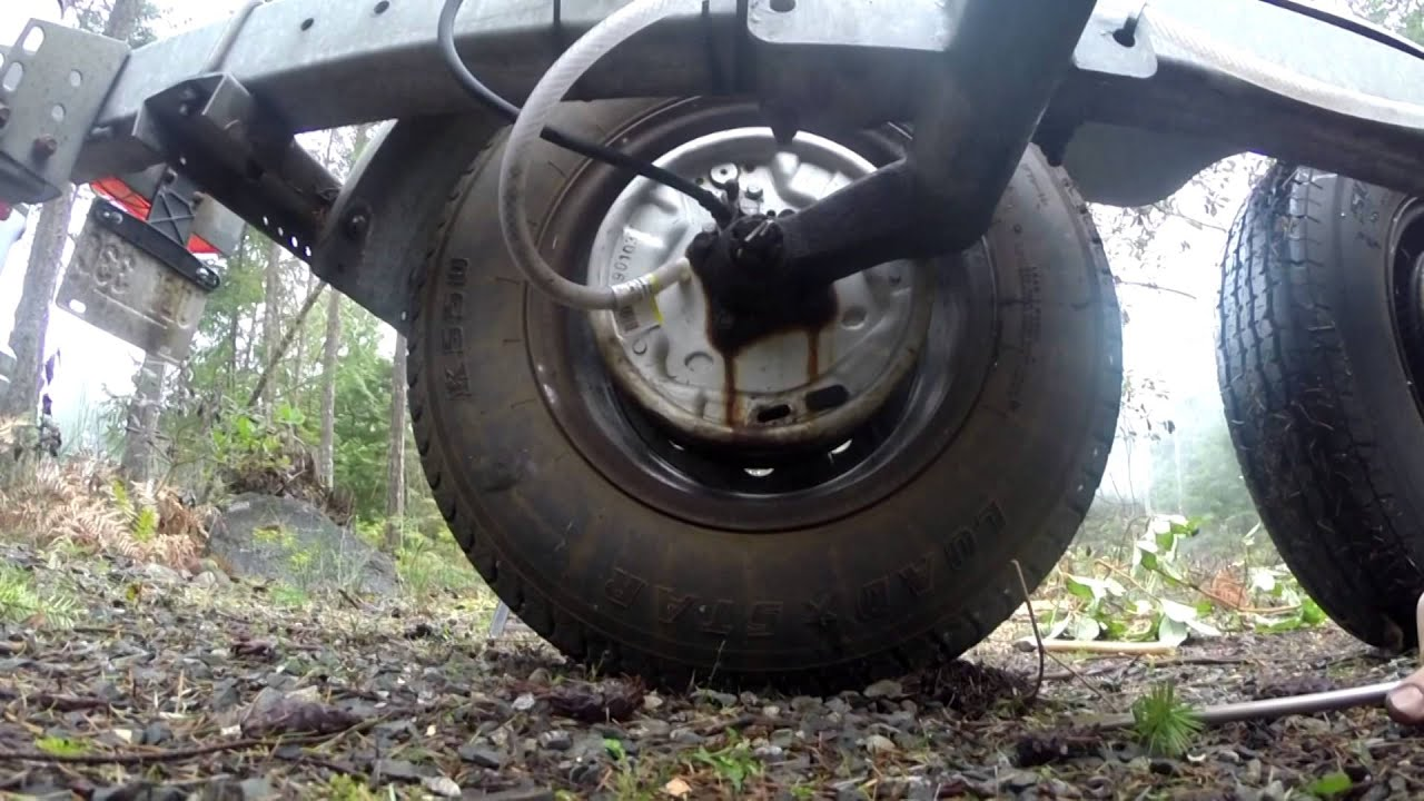Easy 5 min fix seized trailer drum brakes