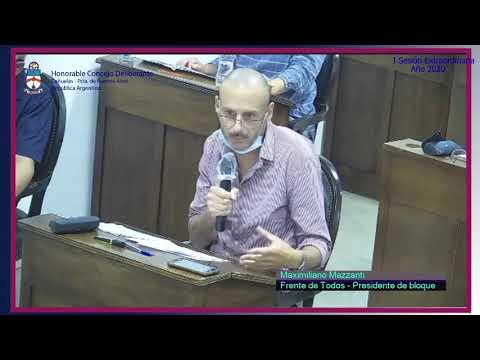 Concejal Maximiliano Mazzanti (FDT) Debate sobre la utilización de pirotecnia en Cañuelas.
