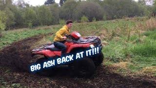 Big Ash back at it driving the 500 farm quad.