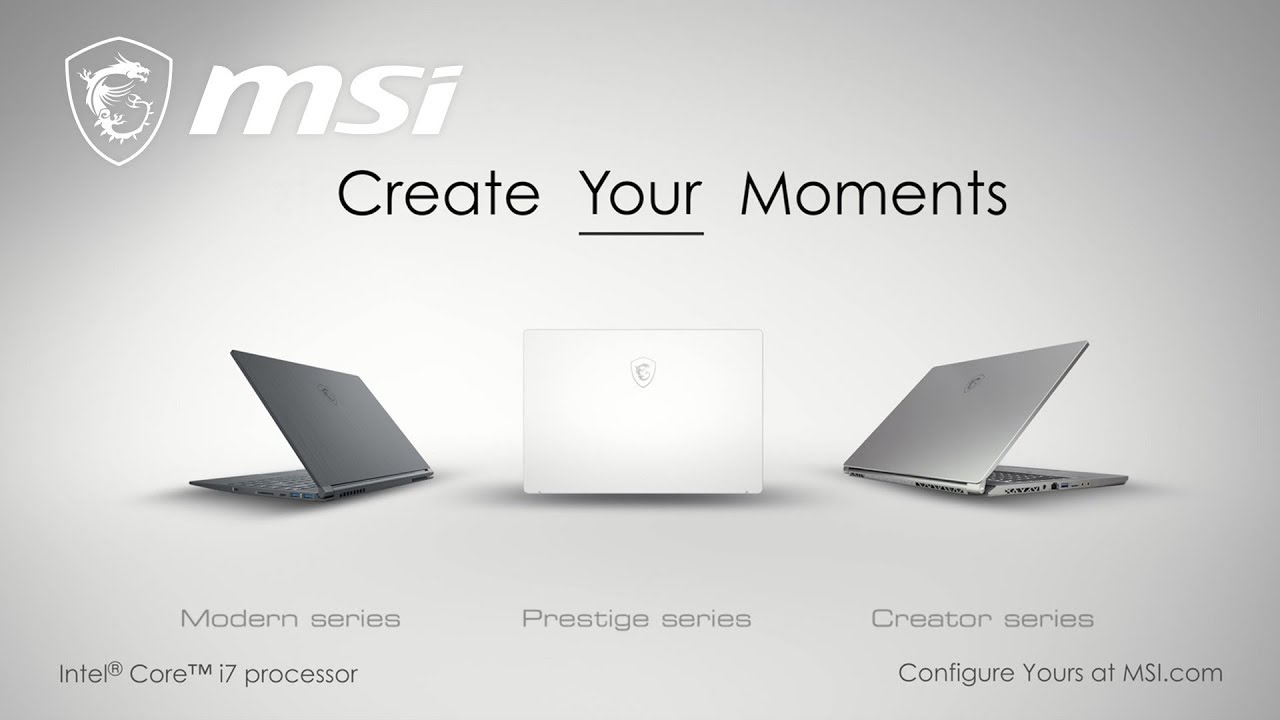 Create Your Moments with MSI Content Creation laptops | MSI