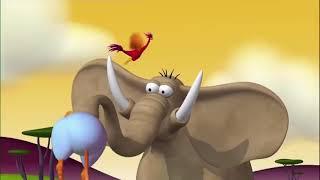Газон Русский | День или Ночь | Забавные мультфильмы про слонов | Газун звериные приключения