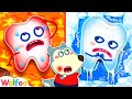 Hot vs Cold Challenge - Wolfoo Saves A Toothache - Learn Healthy Habits | Wolfoo Family Kids Cartoon