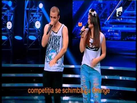 """Timbaland- """"Apologize"""". Vezi cum au cântat Adelina şi Victor, la X Factor! - 동영상"""