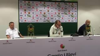 Presskonferens efter GAIS - Öster