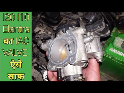I10 kappa 2 IAC valve cleaning,THROTTLE BODY.