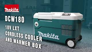Video: MAKITA Akumulátorová / elektrická kompresorová chladnička DCW180Z