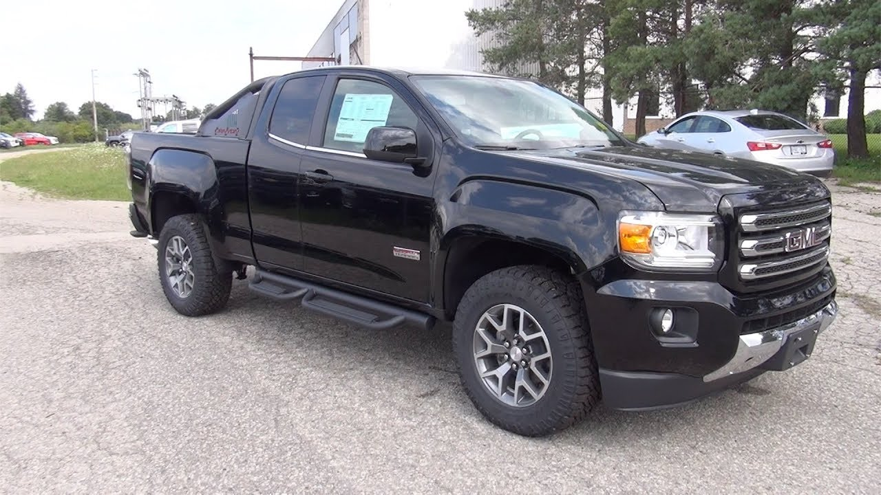 2017 gmc canyon extended cab long box 4wd sle all terrain. Black Bedroom Furniture Sets. Home Design Ideas