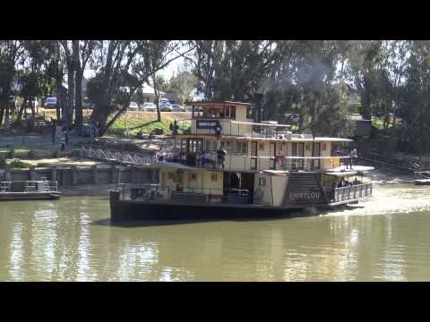 Paddle Steamers Emmylou & Pevensey on the Murray River Australia Echuca 1