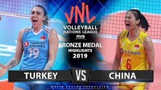 Turkey Vs China | Bronze Medal Match | Highlights | Women's VNL 2019