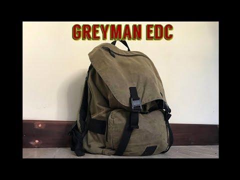 EDC Greyman Backpack Blackhawk Diversion Carry Waxed Canvas Rucksack