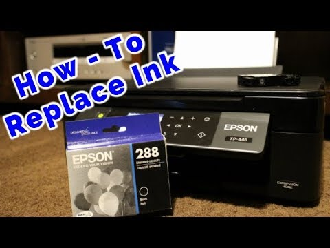 How to Replace the Ink on a Epson Expression XP-446 All in One Printer