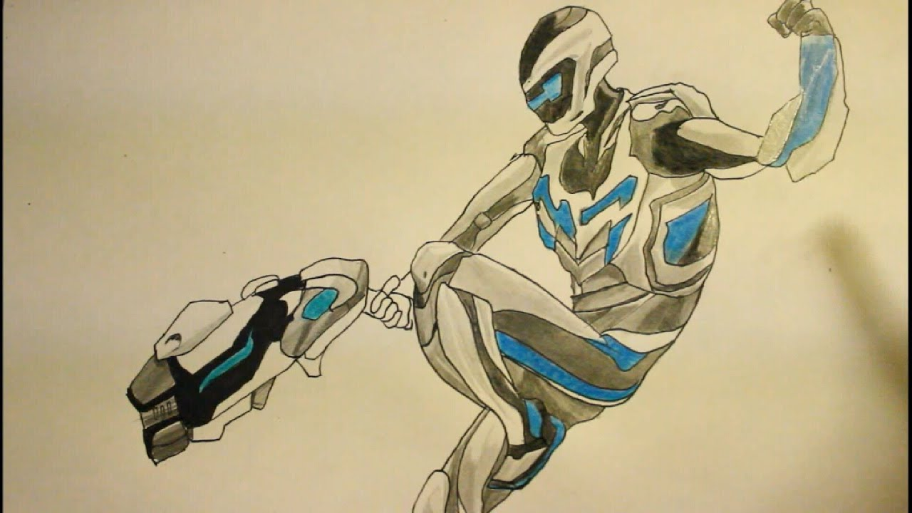 How To Draw Max Steel Step By Step Youtube