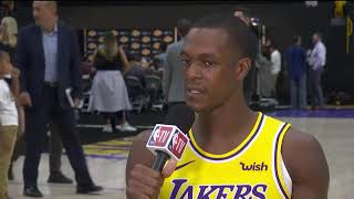 Rajon Rondo ready to mentor the young Lakers roster