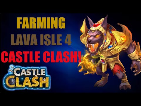 HOW TO BEAT LAVA ISLE 4   HOW TO FARM LAVA ISLE 4   CASTLE CLASH
