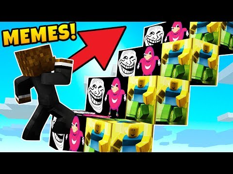 BRAND NEW MEME LUCKY BLOCK STAIRWAY TO HEAVEN CHALLENGE - MODDED MINECRAFT LUCKY BLOCK