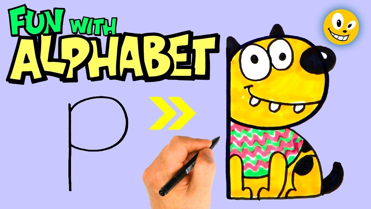(H-P)|Drawing Alphabet Letters for Kids|Drawing Alphabet Animals | OKIDOKIDS