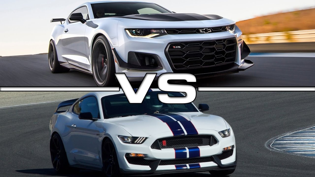2018 Chevrolet Camaro ZL1 vs 2017 Ford Mustang Shelby ...