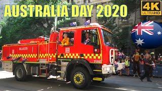 AUSTRALIA DAY 2020 PARADE MELBOURNE CITY  4K