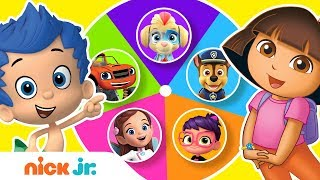 Guess The Missing Colors W/ The Paw Patrol Mighty Pups, Dora & More!🌈 | Color Games | Nick Jr.