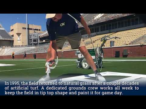 Georgia Tech in 60: Painting the Field at Bobby Dodd Stadium