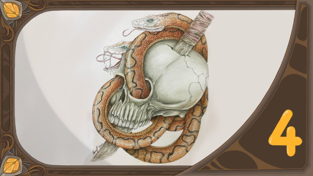 How to draw skull and snakes tattoo drawing speed drawing 4 how to draw skull and snakes tattoo drawing speed drawing 4 thecheapjerseys Choice Image