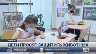 Казахстанские дети выступили в защиту животных